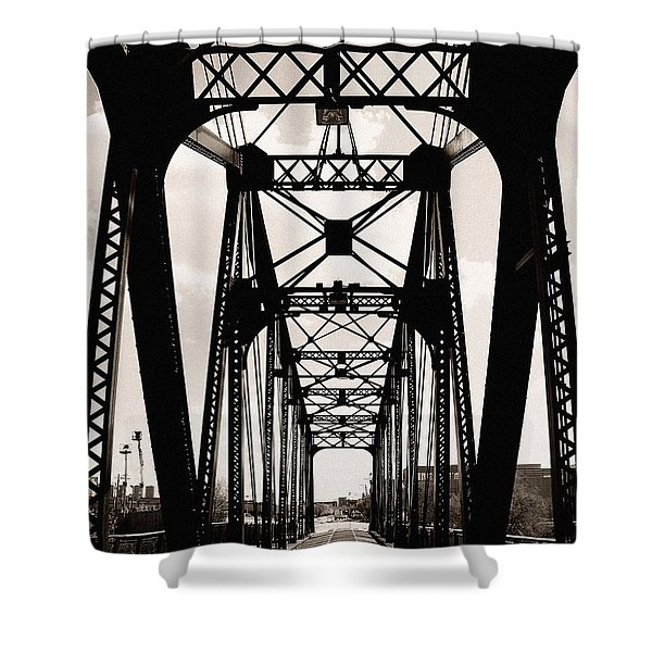 Cherry Avenue Bridge Shower Curtain