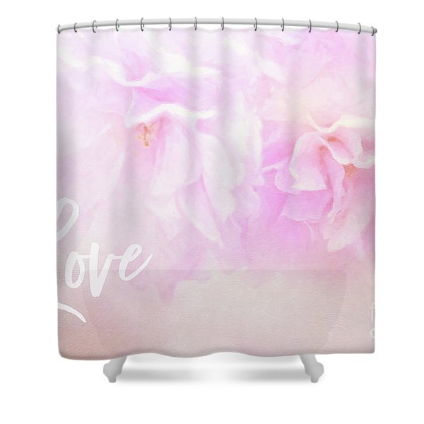 Cherry Blossom Valentine Shower Curtain