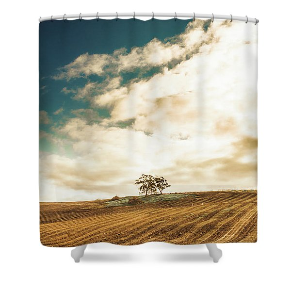 Cherry Farm In The Sewing Shower Curtain