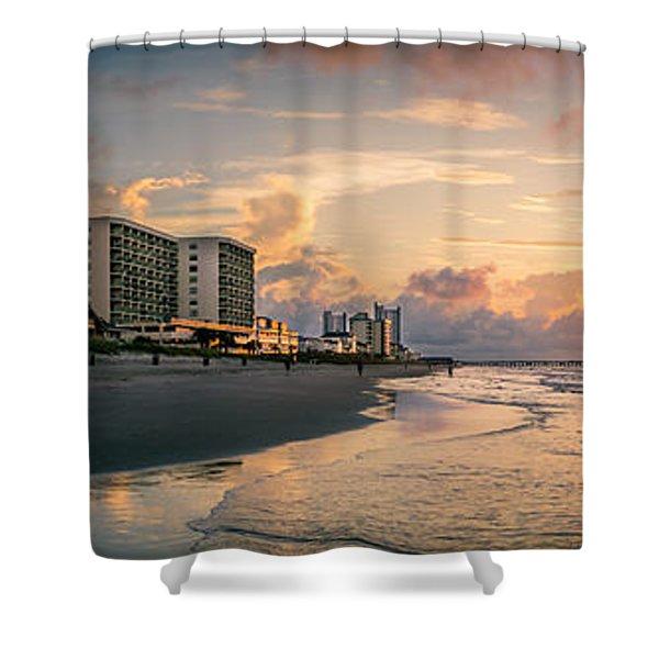 Cherry Grove Panoramic Sunrise Shower Curtain