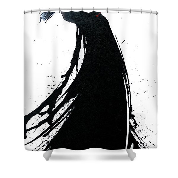 Shower Curtain featuring the painting Cherry On Top by Sandi Baker