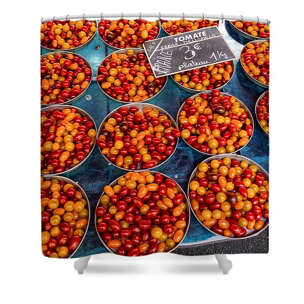 Cherry Tomatoes In Lyon Market Shower Curtain