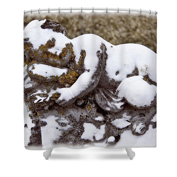 Cherub Stone Shower Curtain