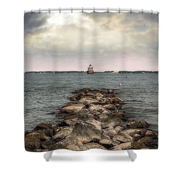 Chesapeake Bay Lighthouse Shower Curtain
