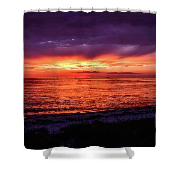 Chesapeake Bay Sunset Shower Curtain