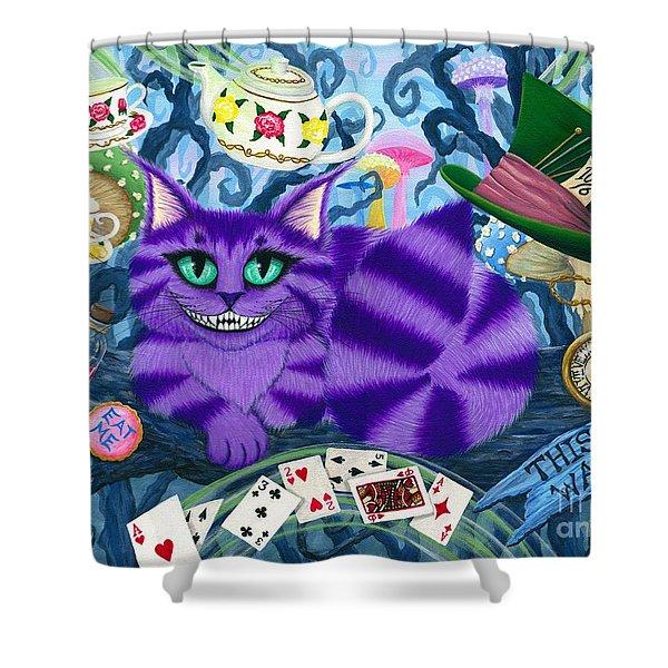 Cheshire Cat - Alice In Wonderland Shower Curtain