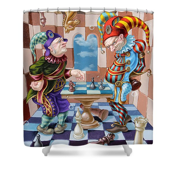 Chess Players Shower Curtain