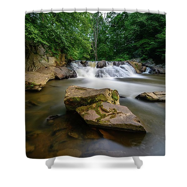 Chestnut Creek Falls  Shower Curtain