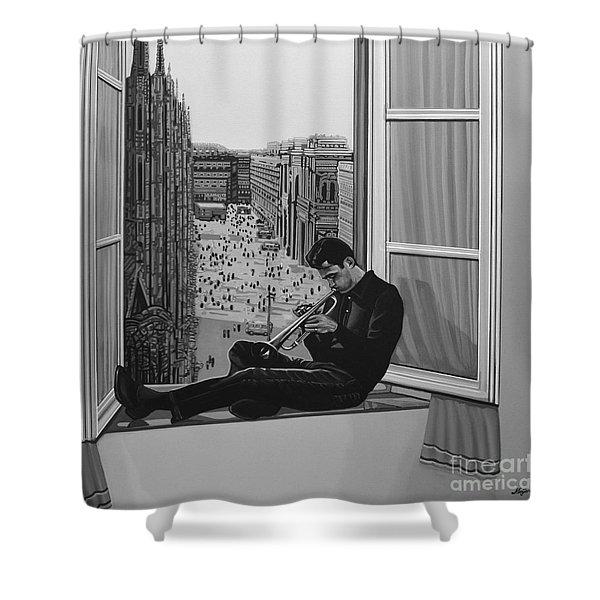 Chet Baker Shower Curtain