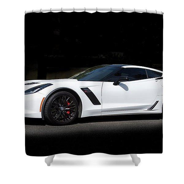 Chevrolet Corvette Z06 - 2017  Shower Curtain