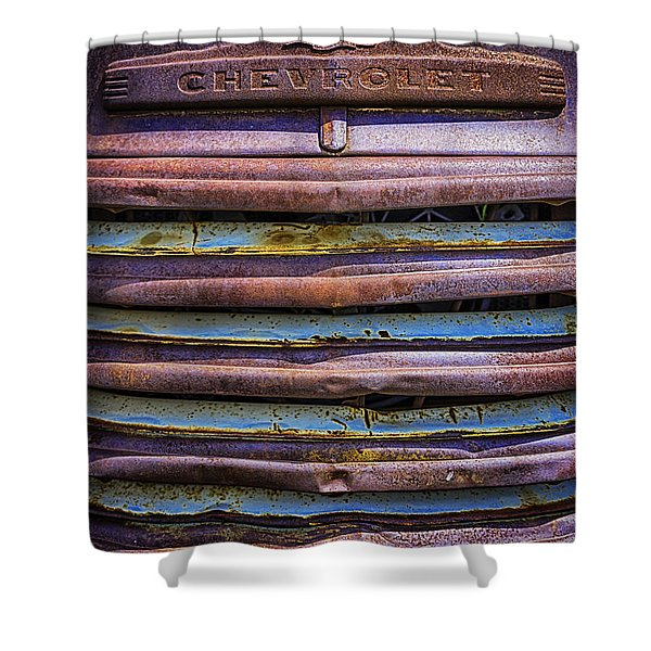 Chevy 3100 Grill Shower Curtain