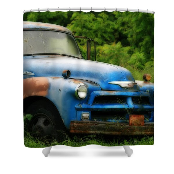 Chevy 6500 Farm Truck Shower Curtain