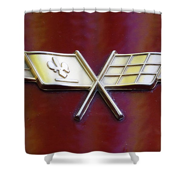 Chevy Corvette Shower Curtain