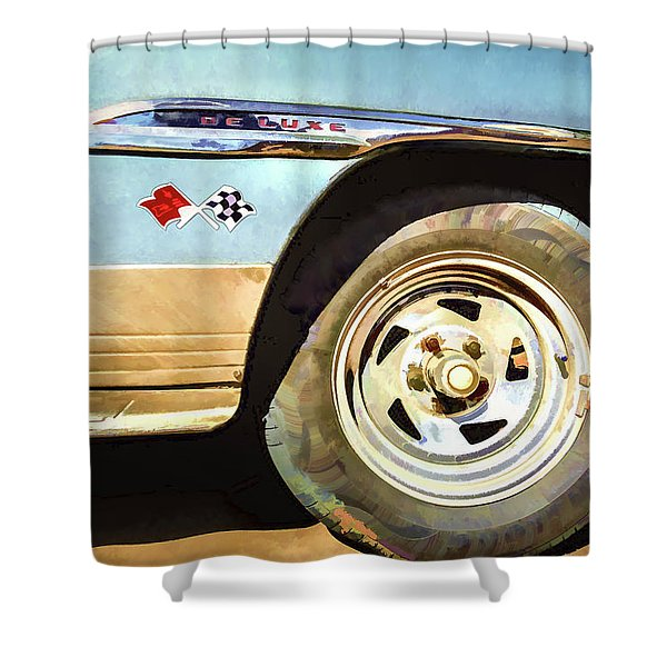 Chevy Deluxe Shower Curtain