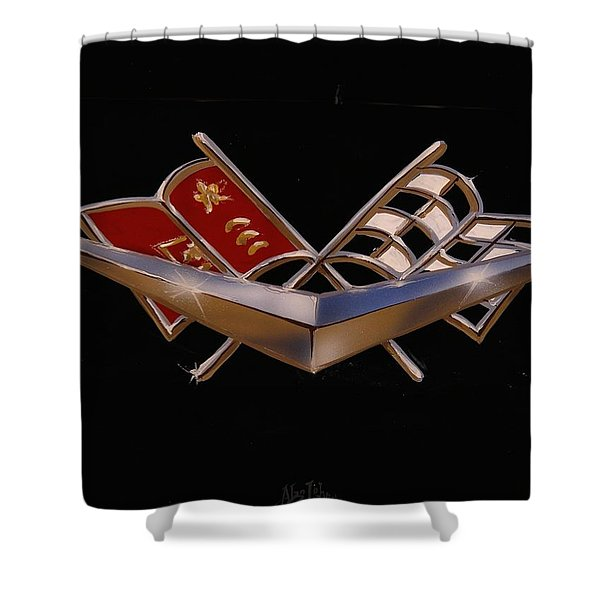 Chevy Flags  Shower Curtain