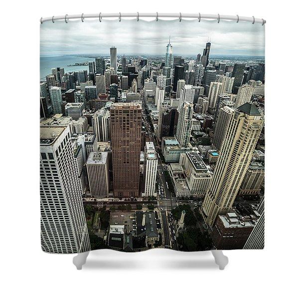 Chicago Aerial Shower Curtain