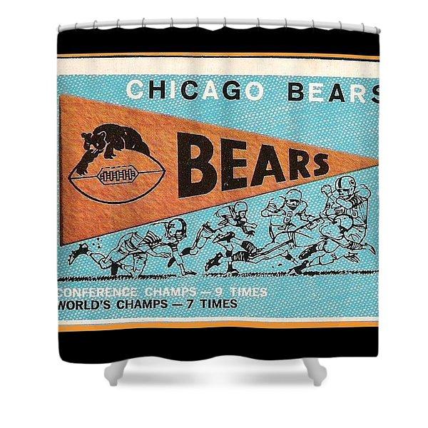 Chicago Bears 1959 Pennant Card Shower Curtain