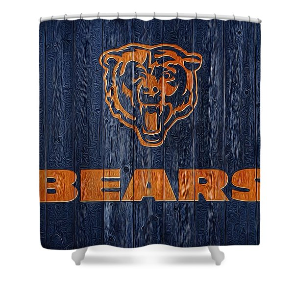 Chicago Bears Barn Door Shower Curtain