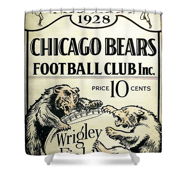 Chicago Bears Football Club Program Cover 1928 Shower Curtain