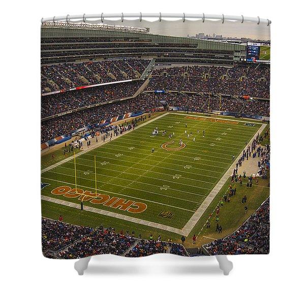 Chicago Bears Soldier Field 7795 Shower Curtain