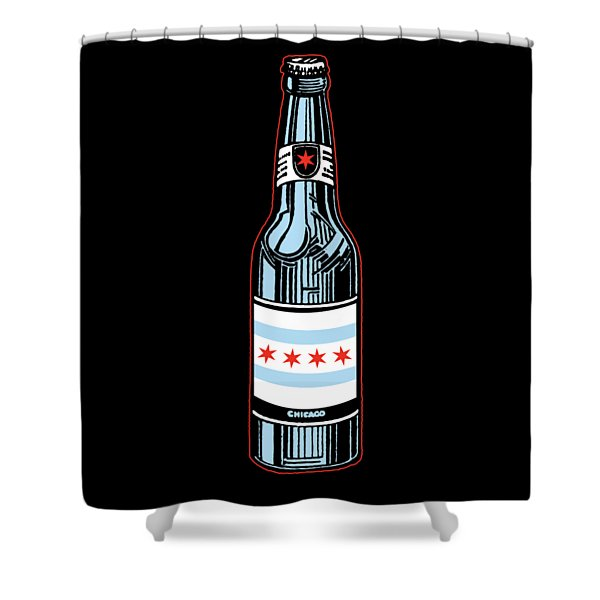 Chicago Beer Shower Curtain