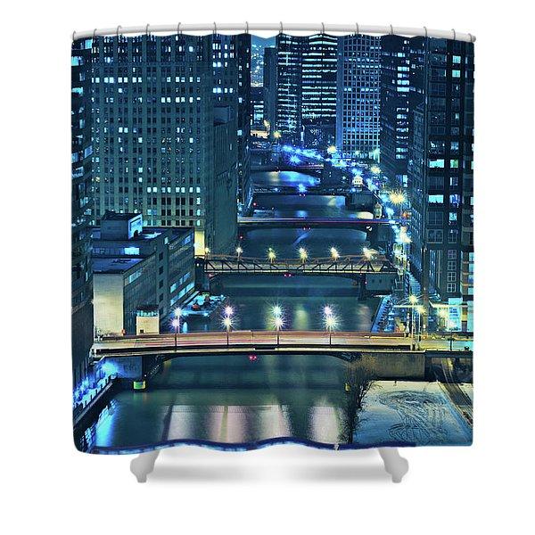 Chicago Bridges Shower Curtain