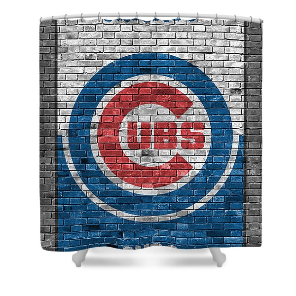Chicago Cubs Brick Wall Shower Curtain