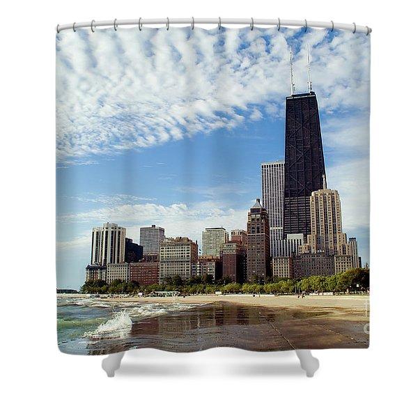 Chicago Lakefront Skyline Shower Curtain
