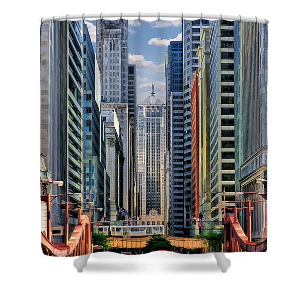 Chicago Lasalle Street Shower Curtain