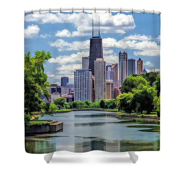 Chicago Lincoln Park Lagoon Shower Curtain