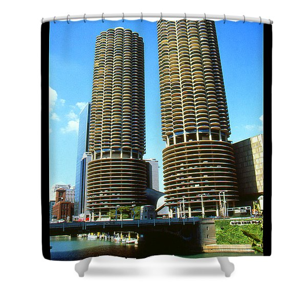 Chicago Poster - Marina City Shower Curtain