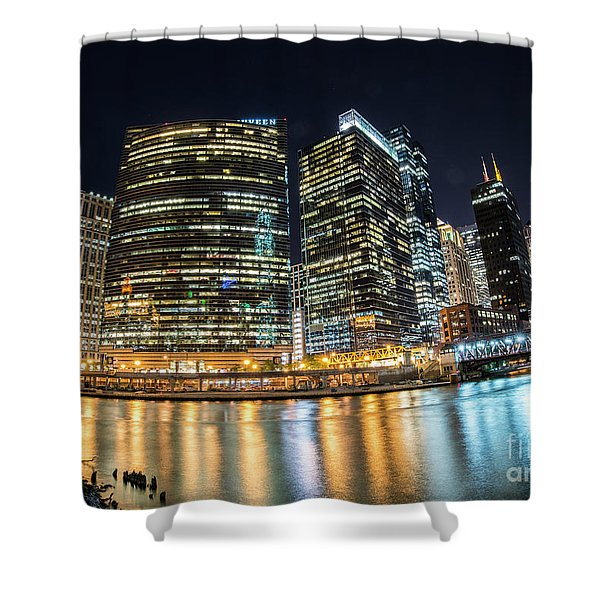 Chicago Reflections Shower Curtain