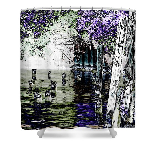 Chicago River Shower Curtain