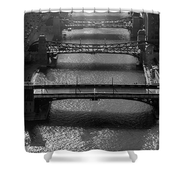 Chicago River Daylight Shower Curtain