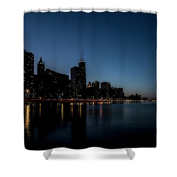 Chicago Skyline From Olive Park  Shower Curtain