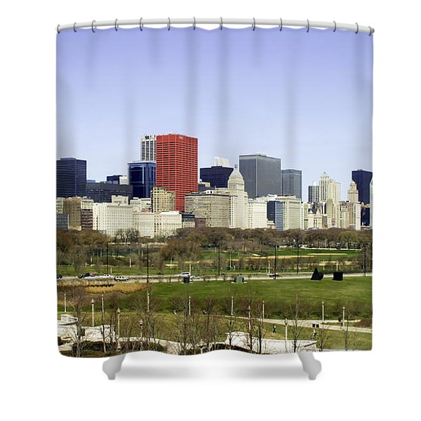 Chicago- The Windy City Shower Curtain