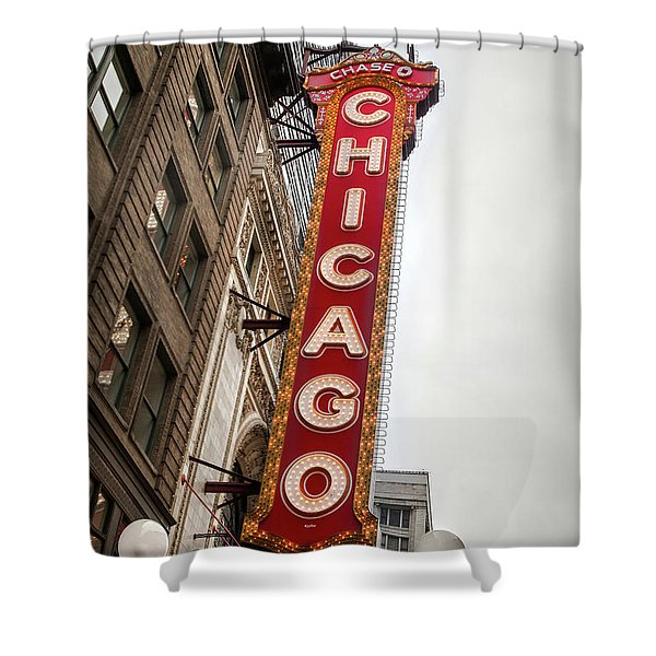 Chicago Theater Marquis Shower Curtain