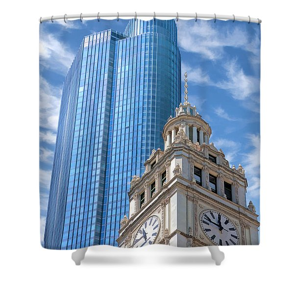 Chicago Trump And Wrigley Towers Shower Curtain