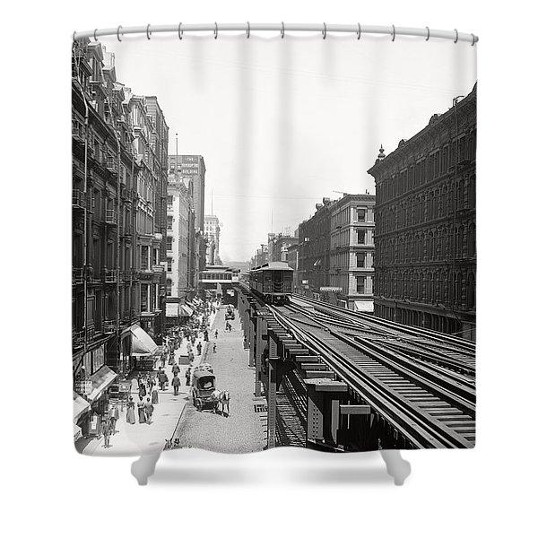 Chicago's Wabash Avenue  1900 Shower Curtain