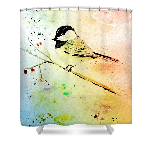 Chick-a-dee Shower Curtain
