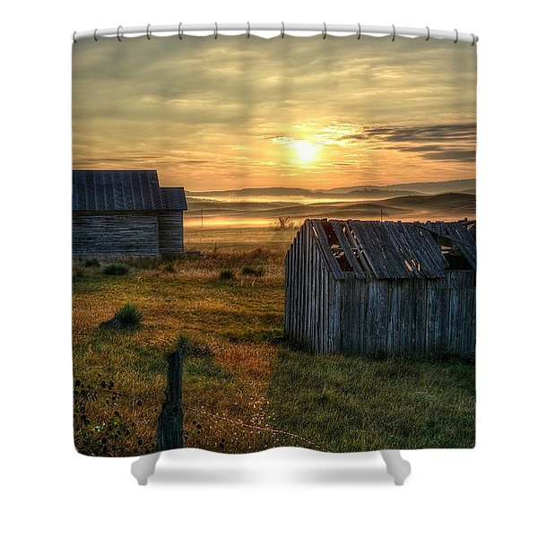 Chicken Creek Schoolhouse Shower Curtain