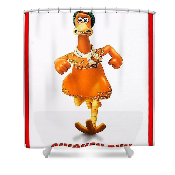 Chicken Run B Shower Curtain