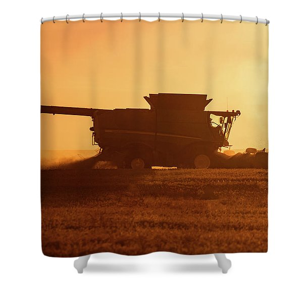 Chickpea Sunset Shower Curtain