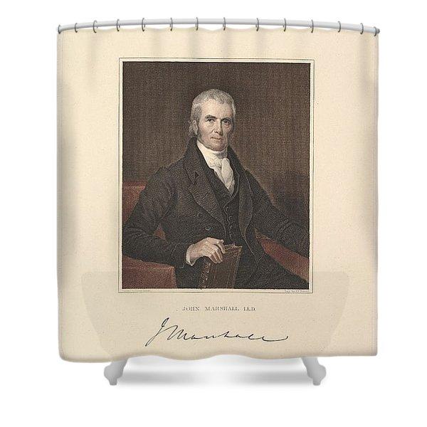 Chief Justice John Marshall Shower Curtain