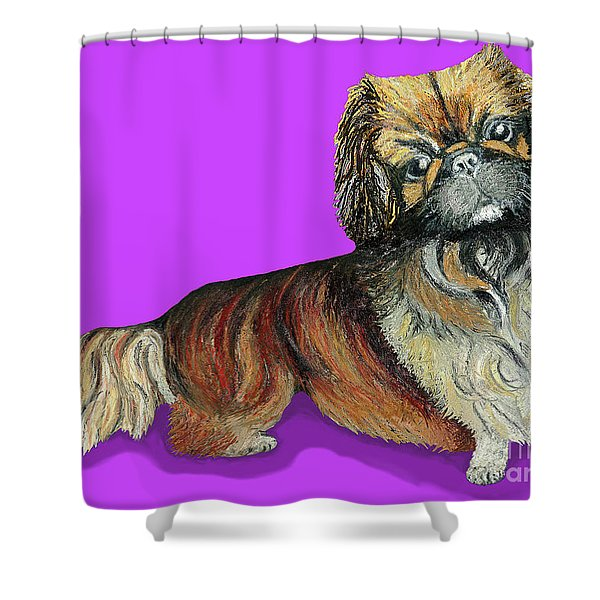 Chien Chien Pekingese Shower Curtain