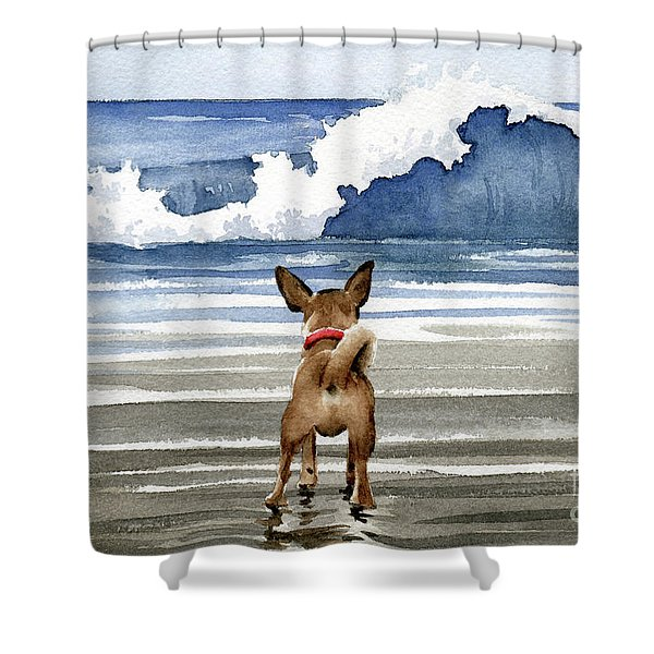 Chihuahua At The Beach Shower Curtain