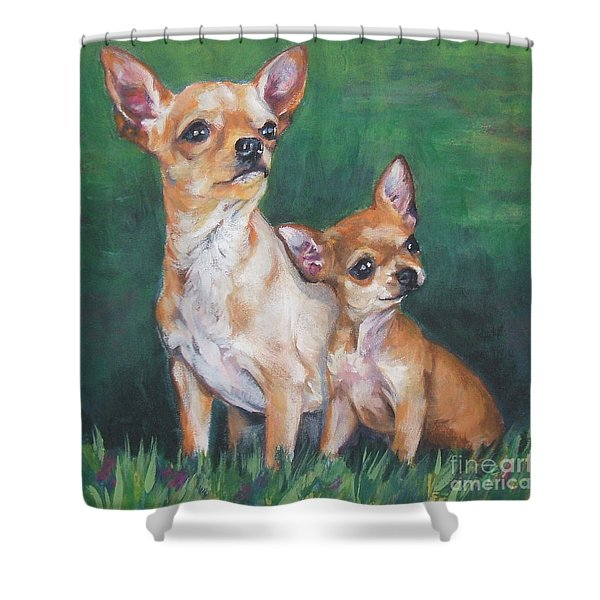 Chihuahua Mom And Pup Shower Curtain