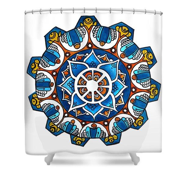 Chikkas Mandala Inspiration Shower Curtain