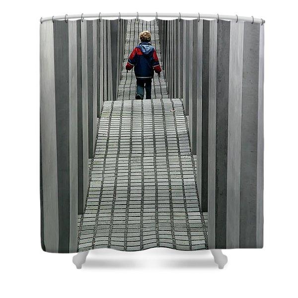 Child In Berlin Shower Curtain