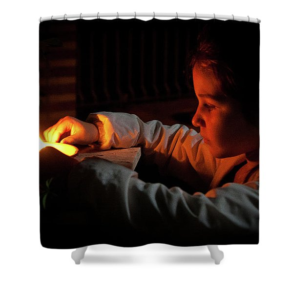Child In The Night Shower Curtain